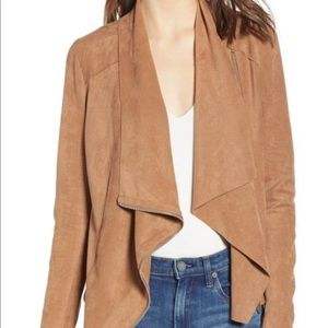 Blank NYC | Drape Front Faux Suede Jacket